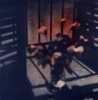 Senza titolo, 1987 - Pigmenti colorati su stampa fotografica B/N